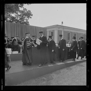 1968 commencement exercises at Tufts University