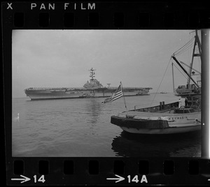 USS Wasp, prime Gemini 12 recovery ship, steamed into Boston Friday carrying a very special cargo--the GT-12 capsule