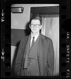 Assistant Attorney General Walter Jay Skinner outside Massachusetts Supreme Court chambers after hearing about the Boston Strangler