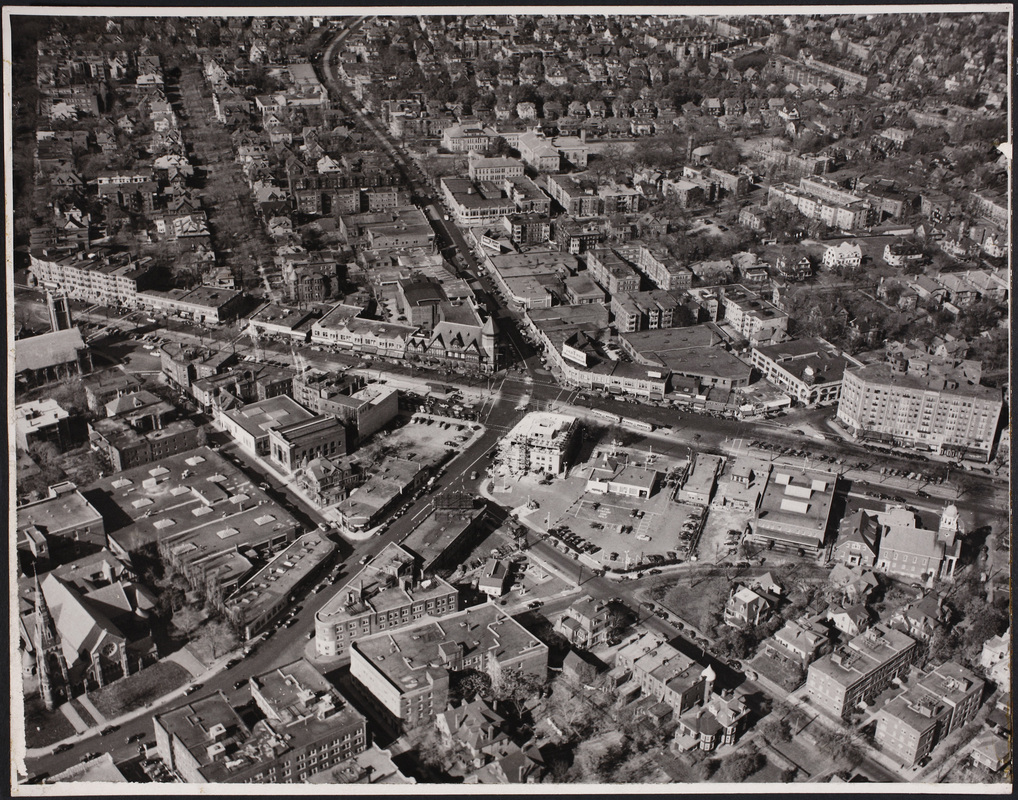 Aerial view of Coolidge Corner