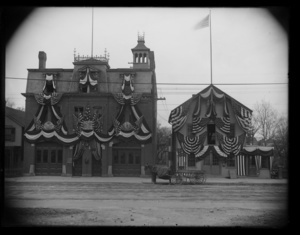 Washington Street. Engine House. 200th bunting
