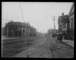 View of Washington Street looking toward Boylston Street - broken
