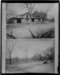 Coolidge Corner - 2 views: Coolidge Brothers Store and Hoar House