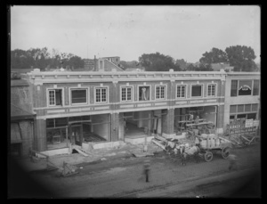 Chases' Block, under construction