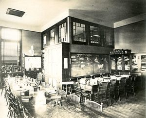 The Biology Room, May Hall, c.1892