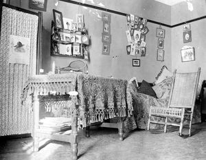 Edith Hyde Fay's Dormitory room c. 1901-1905