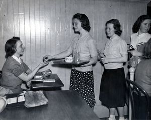 May Hall lunch room, 1940