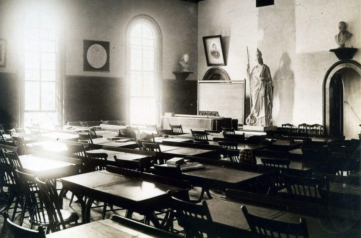 Classroom - May Hall, c.1890