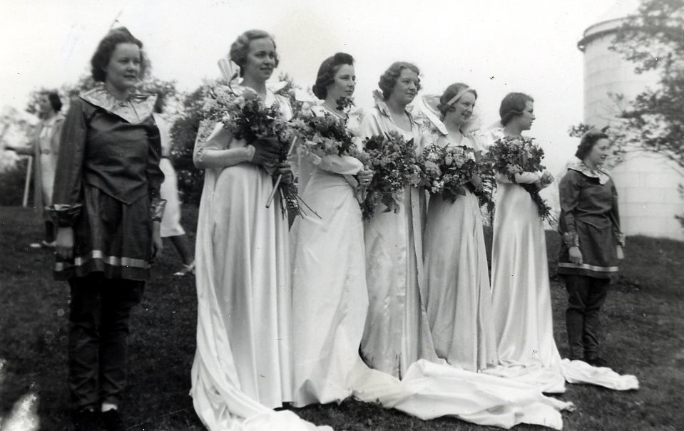 Class of 1940 May Day Court in 1938