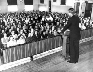 John F. Kennedy Addressing the Student Body in 1946