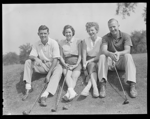 Hockey stars and intended wives at Weston golf