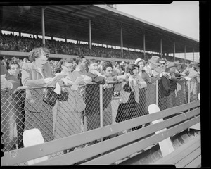 Crowd at races, Suffolk Downs
