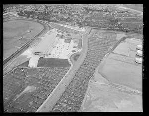 Aerial view of Suffolk Downs race track