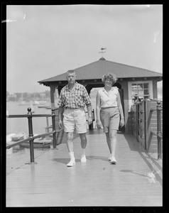 Couple at yacht club