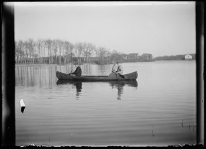 Canoe in pond - 2 people