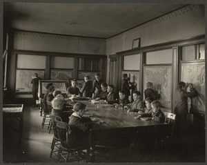 Class in Geography, Perkins Institution