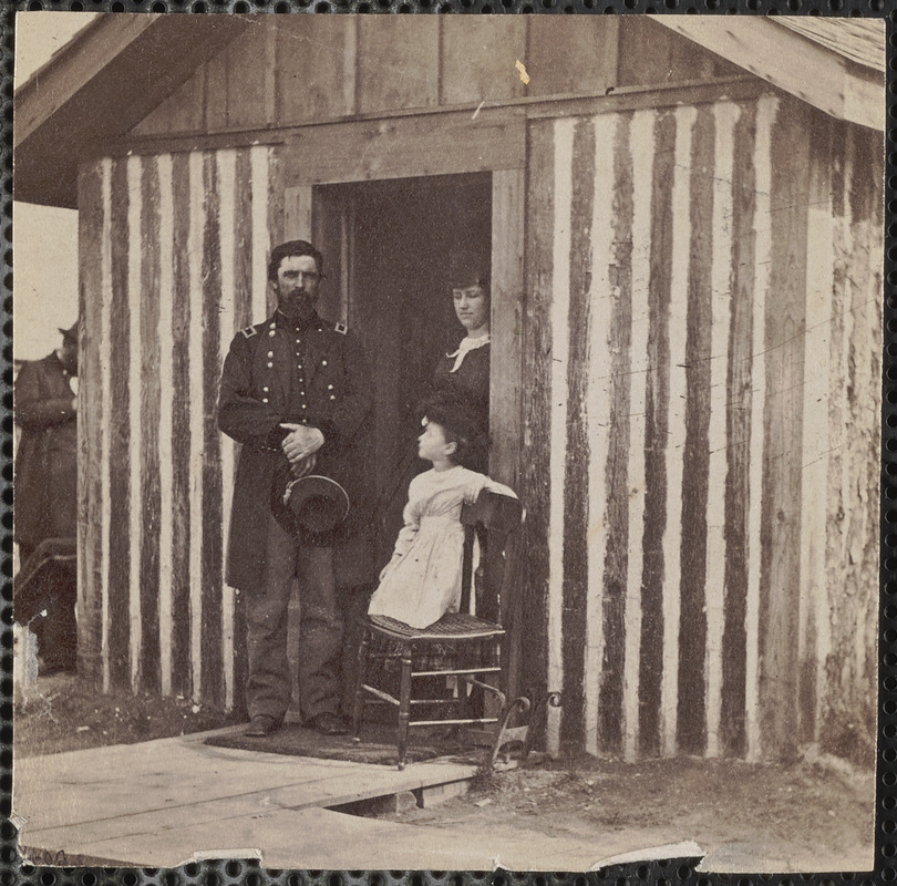 General Rawling, wife and child at City Point. Rawlins, John A., Brigadier General - Brevet Major General, U.S. Army