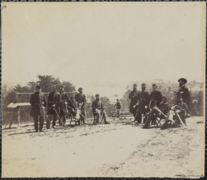 Officers of 1st Connecticut Heavy Artillery at Fort Darling, James River, April 1865