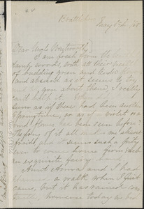 Una Hawthorne autograph letter signed to Thomas Wentworth Higginson, Brattleboro, Vt., 19 May 1868