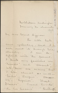Ella Higginson autograph letter signed to Thomas Wentworth Higginson, 11 January 1898