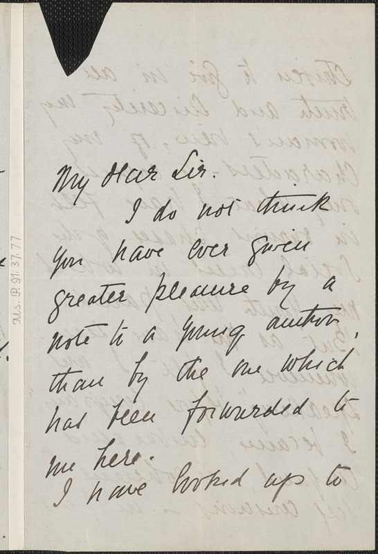 Grace Elizabeth King autograph letter signed to Thomas Wentworth Higginson, Oxford, 21 August 1892