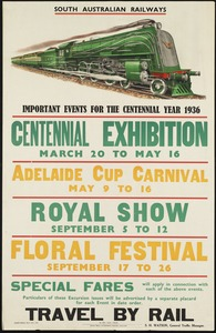 Travel by rail. Important events for the centennial year 1936
