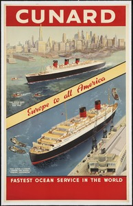 Cunard. Fastest ocean service in the world