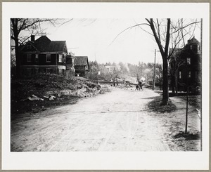 Crescent Hill Avenue under construction, looking toward Mount Gilboa