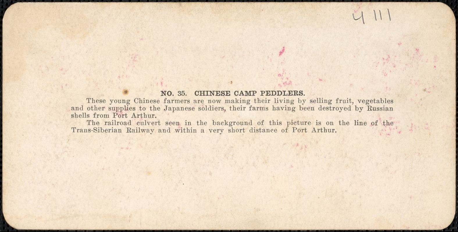 Chinese camp peddlers