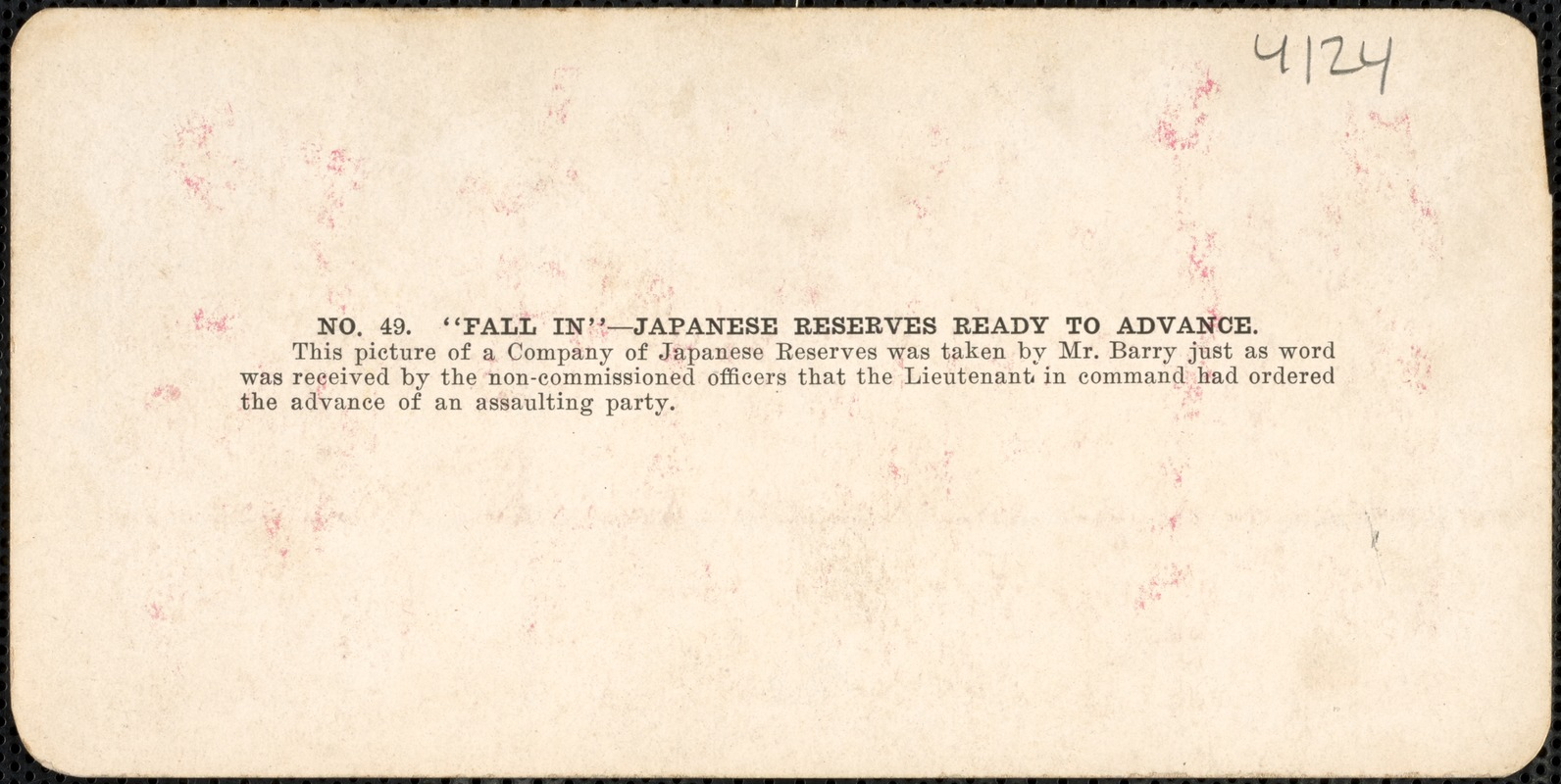 """""""Fall in"""" -Japanese reserves ready to advance"""