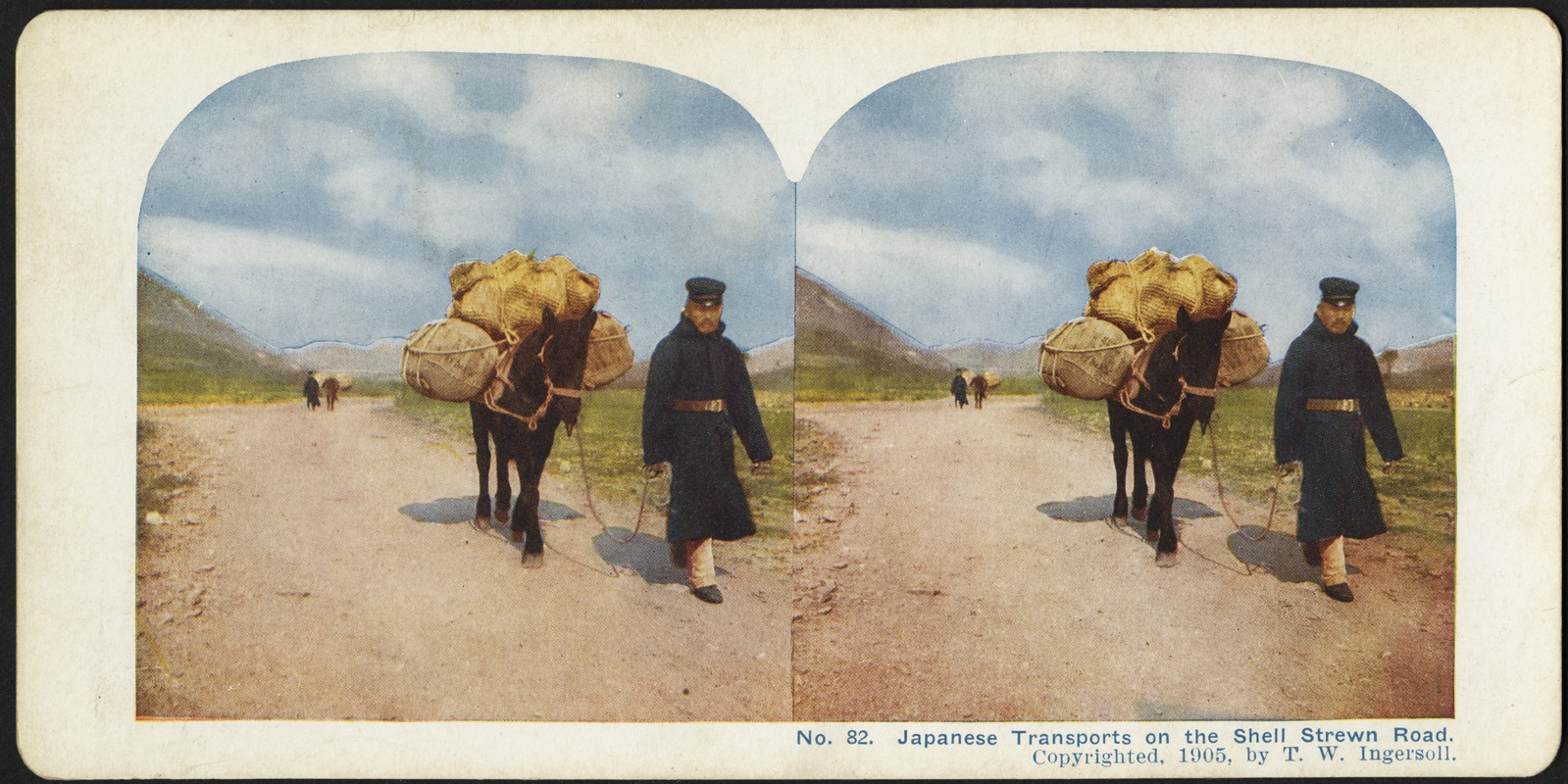 Japanese transports on the shell strewn road