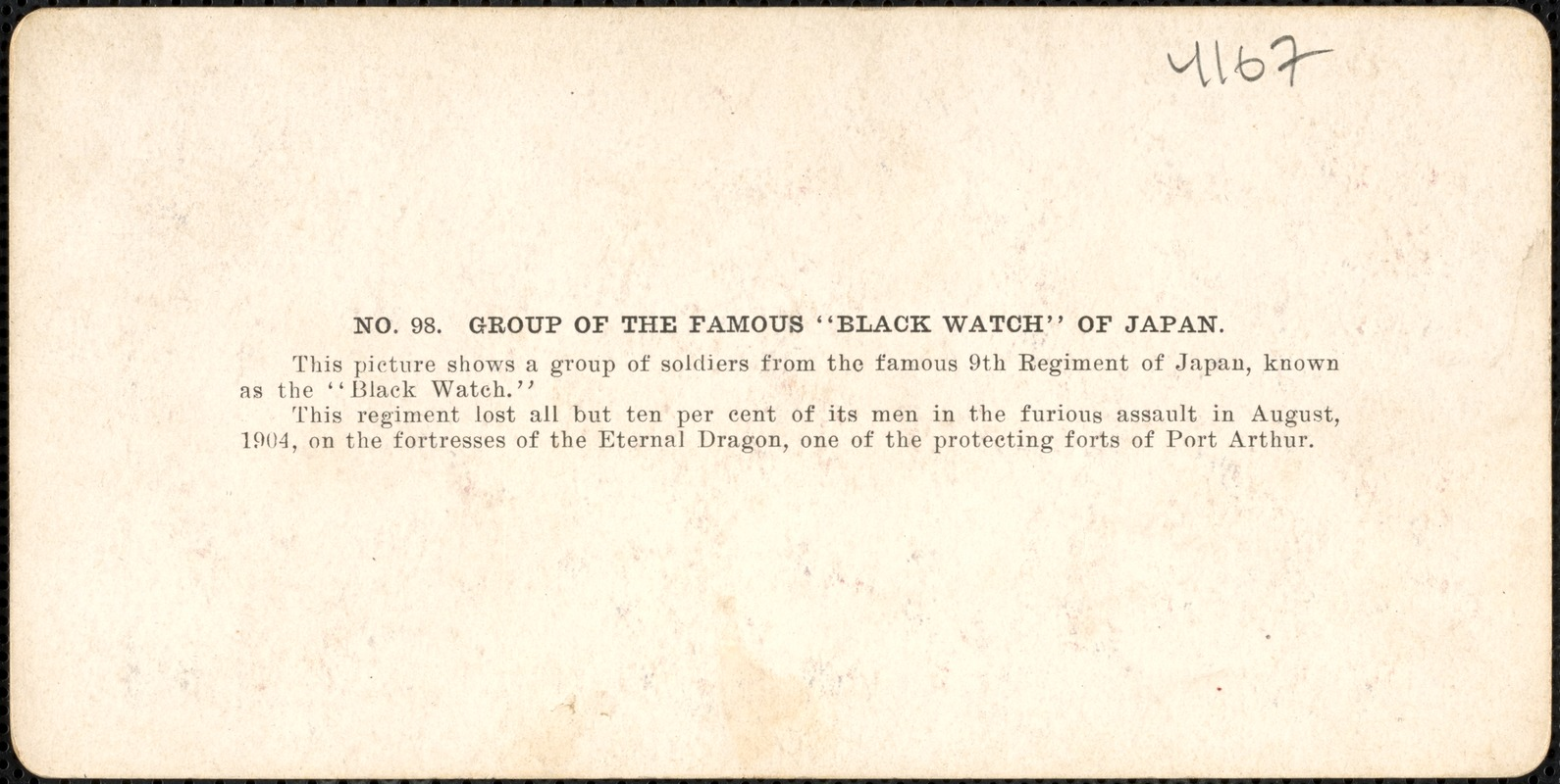 """Group of the famous """"Black Watch"""" of Japan"""