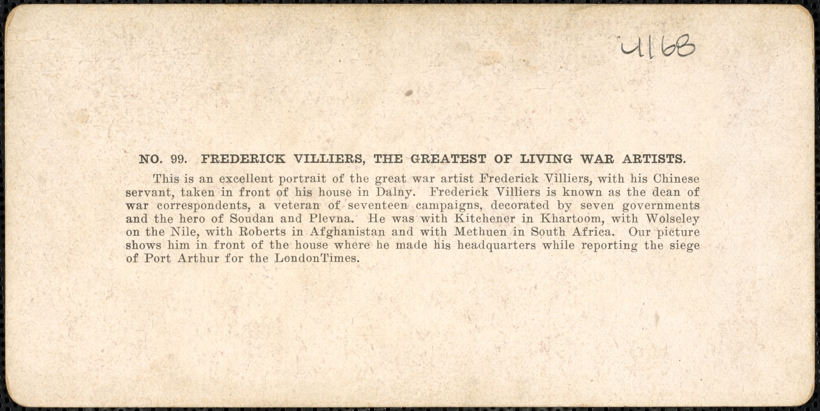 Frederick Villiers, the greatest of living war artists