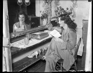 Ann Corio in her dressing room at the old Howard