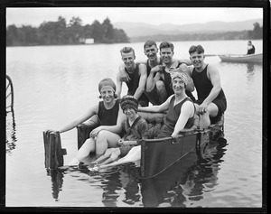 A jolly bunch of pleasure seekers (Tootsie in foreground) Crystal Lake, Gilmanton, N.H.
