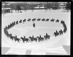 Horses parade in snow: Fort Ethan Allen, Burlington, VT