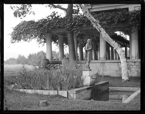 St. Gaudens site. Little studio Pergola and Pan Pool. Little Studio: George Fletcher Babb, architect, 1903-1904