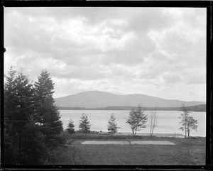 Vacation days on Pleasant Lake, New London, New Hampshire, showing cloud effect