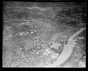 Aerial view Washington D.C.