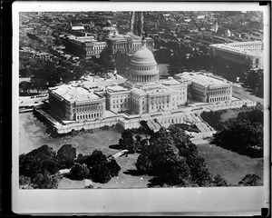 Air view, U.S. capitol