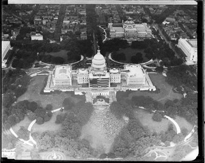 Air view of U.S. capitol