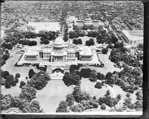 U.S. capitol from the air