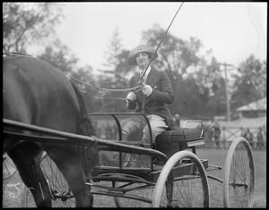 Woman in buggy