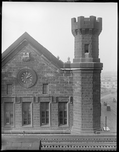 North Station showing clock and 1847 locomotive