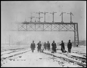 Thawing out the N.Y., N.H., & H railroad tracks at South Station
