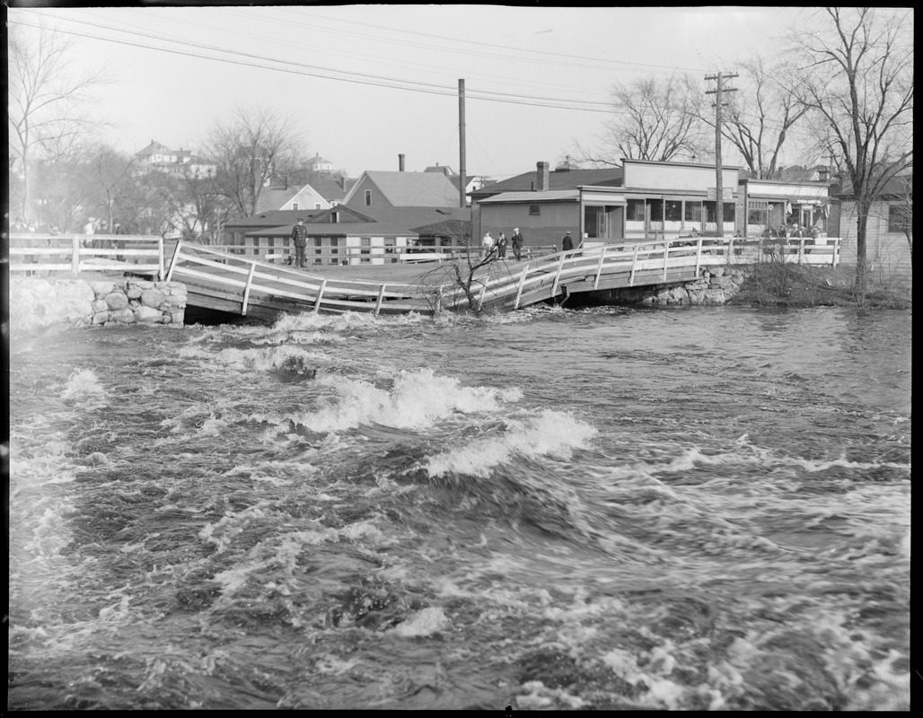 Bridge damaged by flood, Bellows Falls