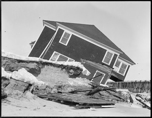 Storm wrecked house - Hampton Beach, N.H.