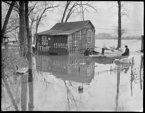 River overflows during New England flood