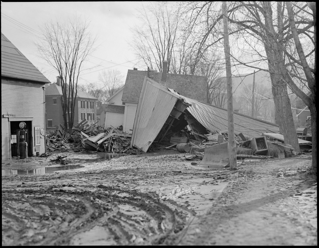 Aftermath of flood in Colebrook, N.H.