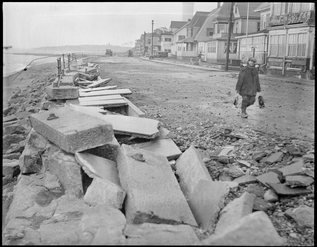 Shore Drive in Winthrop, destroyed by storm